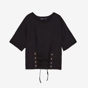 Zara Black Corset T Shirt